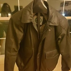 Other - Mens Burk black leather jacket